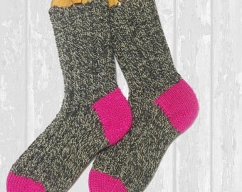 Hand Knit Wool Socks—Made to Order