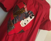 Love Me Blood Red Quilted Hearts Tunic Dress