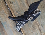 Bandana Knot Tie Headband Bandanna Head Wrap Rock Fashion Headband (BLACK)