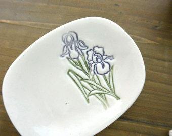 Bearded Iris Small Dish