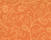SALE Moda Chrysalis by Sanae Vines Orange cotton Fabric by the yard 32423-28