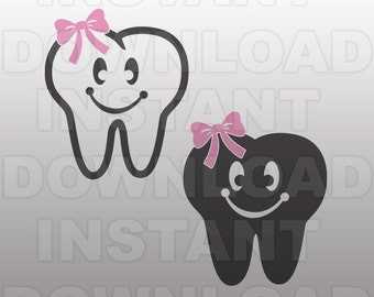 Tooth Fairy SVG File,First Tooth SVG File,Cutting Template-Vector Clip Art for Commercial & Personal Use Cricut,Cameo,Silhouette,Scrapbook
