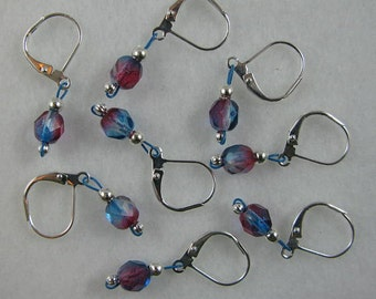Blushing Berry Removable Stitch Markers - Item No. 839