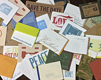45 Letterpress Greeting SALE Pack