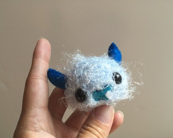 Blue Cotton Candy- A Baby Amigurumi Monster Doll