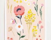 Peony Garden Art Print - 12x16