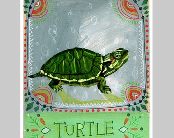 Animal Totem Print - Turtle