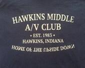 Hawkins Middle A/V club T-shirt