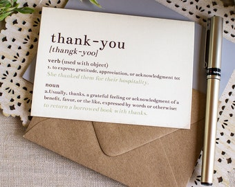 Dictionary Thank You Notes set of 20 Story Book Wedding