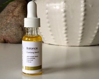 Balance Clarifying Serum. Oil Control, Clarifying , Even Skin Tone. Oily, Combination, Acne Prone. Natural Organic Skin Care. Vegan.