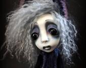Loopy Southern Gothic Art Doll Victorian Dark Goth Lil Blue Lou