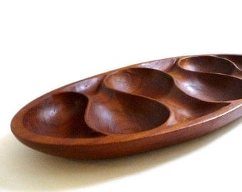 Modernist Teak Wood Serving Tray