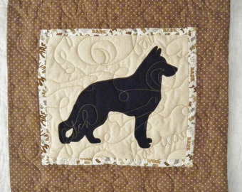 German Shepherd- Quilted Dog throw pillow 16 inches