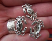 BULK 50 c Crab Ocean Nautical Charms findings DIY Assemblage Art Jewelry Making Supplies Reduced Shipping!