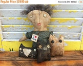 PreHalloweenSale Primitive Doll I love Cats-