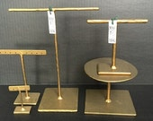 Jewelry Holders - Set of 5 - Assorted - jset32 - GOLD