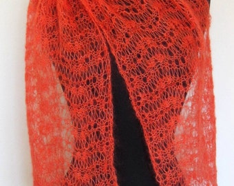 Lace Scarf Electric Koi