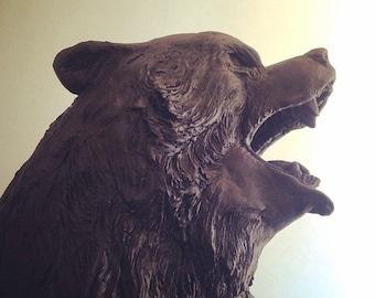 Coup de grace..., an animal sculpture by Darla Jackson