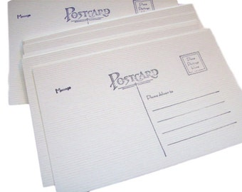Postcard blanks - set of 200 - Soft White