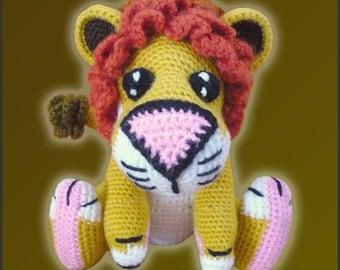Amigurumi Pattern Crochet Lucas LION DIY Digital Instant Download