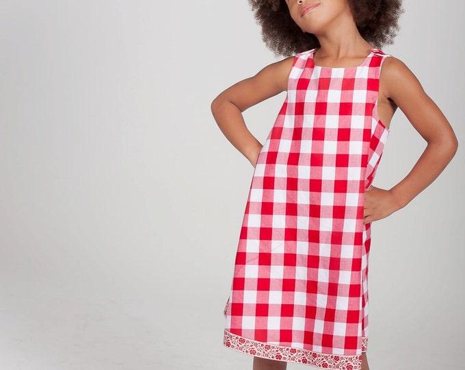 Girls Dress, Picnic Plaid Dress, Red Gingham Dress, Country Dress, Picnic Dress, Toddler Dress, Baby Dress, Newborn Dress, Newborn to 6