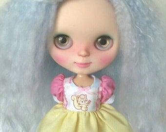 SALE Cute Squirrel Babydoll Dress for Blythe & Licca