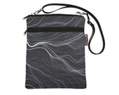 Apple iPad Computer Travel Bag by Borsa Bella - Or Sling Purse - Washable - - Fast Shipping -Star Trails Fabric