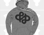 Ampersand Typography Hoodie, & Ampersand Infinity Shirt, Typography Pullover Sweatshirt, Swiss, Graphic Design, Hipster, Gift for Men, Grey