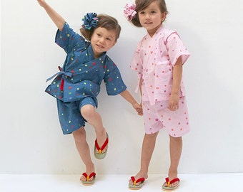 Nani Iro Japanese sewing pattern - Romper and Jinbei for baby and kids