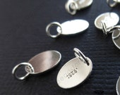 20 pcs Small Tag w/ Jump Ring Sterling Silver Blank Disc High Polished 7.3 x 5.5mm F399R