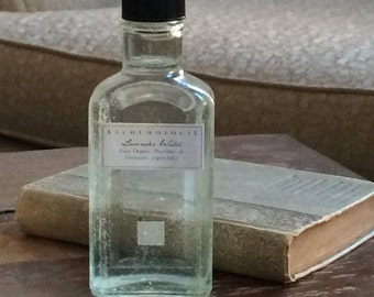Organic Lavender Water Hydrosol in a Vintage Apothecary Bottle