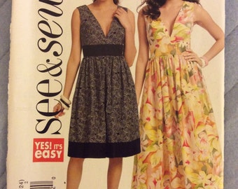 Butterick 5307 See & Sew - Womens Dress Sewing Pattern - Size 16-24