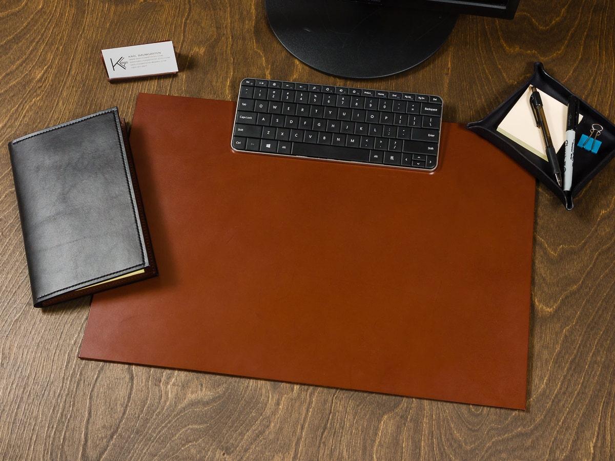 Full Grain Leather Desk Pad Blotter Personalize Customize