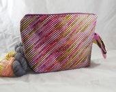 Geometric Variegation zippy bag by AnniePurl