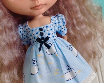 Dress for Blythe - Find the Narwhal - Blue