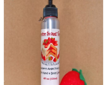 Strawberry Angel Food Cake Body Lotion (Paraben Free)