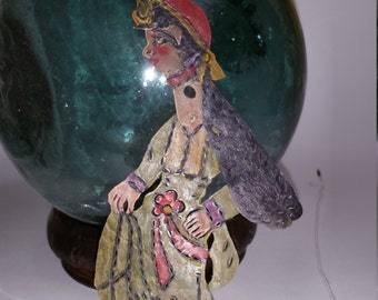 Turkish Karagöz Gypsy Woman Shadow Puppet