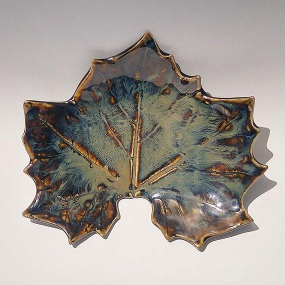 Ceramic Dish - Stoneware Dish - Handmade Pottery - Maple Leaf Dish - Spoon Rest - Gift For Him - Soap Dish - Ceramic Soap Dish - Ring Dish