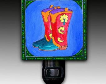 Cowboy Boots Night Light