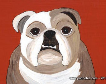 Note Cards - English Bulldog by Melissa Langer