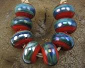 Handmade Glass Lampwork Bead Set (8) Handmade by Jason Powers SRA