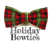 Holiday Collar Bow Tie Add On - Cat & Dog Sizing - Please Mention Fabric Choice at Checkout