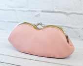 Pale Pink Leather Sunglasses Eyeglasses Case with Liberty of London Lining Light Pink Birds