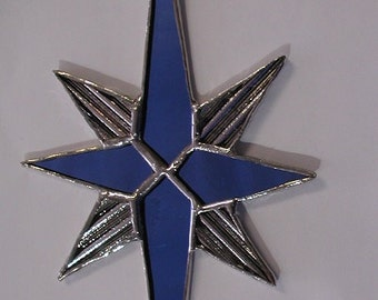 Star north star in Blue