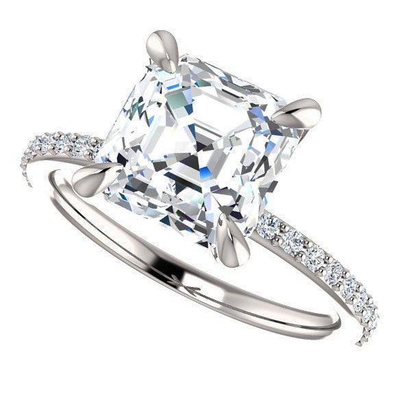 shay ring 2 carat asscher cut forever one moissanite