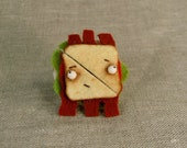 Tiny Fractured BLT Club Sandwich, Felt Food