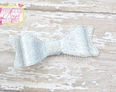 Silver Glitter Bow - 3D Bow - Girls Bow - Toddler Bows