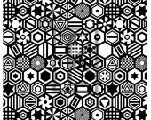 Hexagon Tile Mosaic Silk Screen (M42)