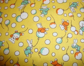 Toy Chest by Riley Blake 1930's Reproduction Cotton Quilting Fabric YELLOW