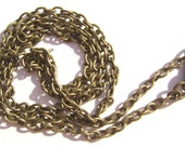 Chain Necklace Handmade Antiqued Brass Steel  26 inch  - 1 , 5 or 15  Qty
